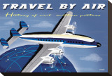 Travel By Air, History of Civil Aviation Posters Stretched Canvas Print by Michael Crampton