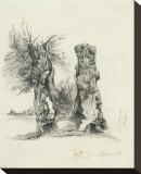 Tree Trunks at La Mare au Clerc Leinwand von Claude Monet