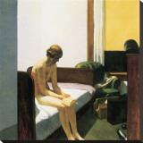 Chambre d'hôtel Reproduction transférée sur toile par Edward Hopper