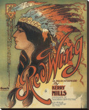 Song Sheet Cover: Red Wing, an Indian Intermezzo by Kerry Mills Stretched Canvas Print