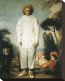 Pierrot, Gilles Stretched Canvas Print by Jean Antoine Watteau