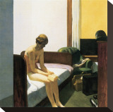 Hotel Room Stretched Canvas Print by Edward Hopper