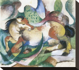 Springendes Pferd Stretched Canvas Print by Franz Marc