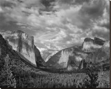 Yosemite Tunnel View Black and White I Stretched Canvas Print by Danny Burk