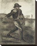 Sower (after Millet) Leinwand von Vincent van Gogh