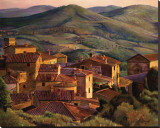Volpaia Tuscany Stretched Canvas Print by Kirk Maggio