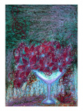 Flower of Champagne Glass That Watches Blue Night Giclee Print by Mariko Miyake