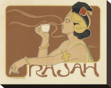 Rajah Coffee Stretched Canvas Print by Henri Meunier