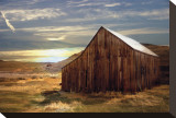 Sunset Barn Stretched Canvas Print by Stephanie Laird