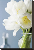 White Tulips Bouquet Stretched Canvas Print by Christine Zalewski