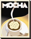 Deco Mocha I Stretched Canvas Print by Richard Weiss
