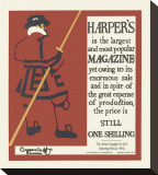 Harper&#39;s Magazine, c.1895 Stretched Canvas Print