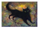 Lovely Black Cat Giclee Print by Mariko Miyake