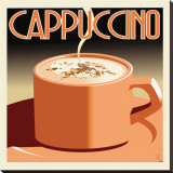 Deco Cappucino I Stretched Canvas Print by Richard Weiss