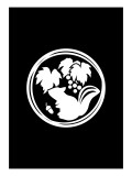 Family Crest Style Black Giclee Print by Ikuko Kowada