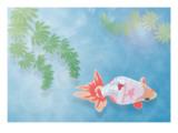 A Goldfish Giclee Print by Ikuko Kowada