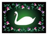 Swan Green Giclee Print by Ikuko Kowada