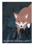 Fox in Blue Giclee Print by Ikuko Kowada