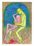 Scenery Where Lovers Relax in a Room Giclee Print by Mariko Miyake