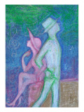 Lovers Who Pass Each Other Giclee Print by Mariko Miyake