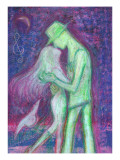 Lovers are Pleased with Reunion, and Kiss Giclee Print by Mariko Miyake