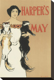 Harper's Magazine, May 1897 Stretched Canvas Print by Edward Penfield