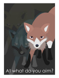 Fox in Gray Giclee Print by Ikuko Kowada
