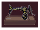 Sewing Machine in Purple Giclee Print by Ikuko Kowada