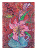 Casablanca Flower Overflows in Rejoicing and Is Danced Giclee Print by Mariko Miyake
