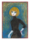 Woman with Sweater Giclee Print by Mariko Miyake