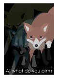 Fox in Black Giclee Print by Ikuko Kowada