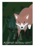 Fox in Green Giclee Print by Ikuko Kowada