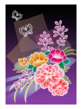 Flower Arrangement Purple Giclee Print by Ikuko Kowada