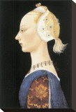 A Young Lady of Fashion Sträckt Canvastryck av Paolo Uccello