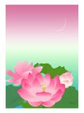 Lotus at Night Giclee Print by Ikuko Kowada