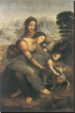 The Virgin and Child with Saint Anne Stretched Canvas Print by  Leonardo da Vinci