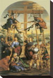 The Descent From The Cross Stretched Canvas Print by Giovanni Antonio Bazzi Sodoma