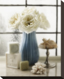 The Pretty Blue Vase Stretched Canvas Print by Dan Magus