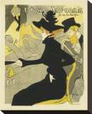 Divan Japonais Music Hall Stretched Canvas Print by Henri de Toulouse-Lautrec