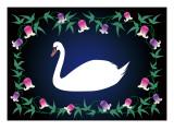 Swan Blue Giclee Print by Ikuko Kowada