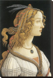 Simonetta Vespucci in Mythological Guise Stretched Canvas Print by Sandro Botticelli