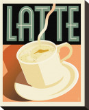 Deco Latte I Stretched Canvas Print by Richard Weiss