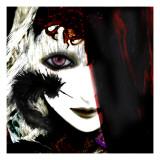 Gate Keeper: Black &Purple Giclee Print by Meiya Y