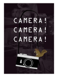 Camera Purple Giclee Print by Ikuko Kowada