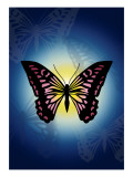 Butterfly in Blue Shadow Giclee Print by Ikuko Kowada