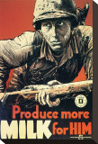 Produce More Milk for Him, c.1943 Stretched Canvas Print