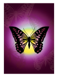 Butterfly in Purple Shadow Giclee Print by Ikuko Kowada