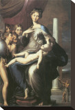 Madonna With The Long Neck Stretched Canvas Print by  Parmigianino