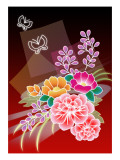 Flower Arrangement Red Giclee Print by Ikuko Kowada