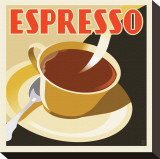 Deco Espresso I Stretched Canvas Print by Richard Weiss